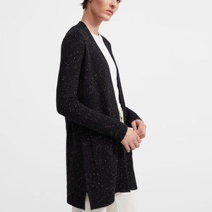 Theory open front belt cardigan- black cashmere!